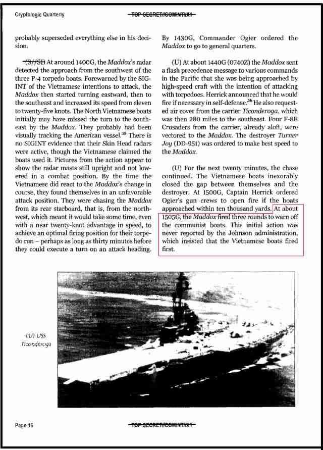 010101 NSA Gulf of Tonkin Paper Page 16