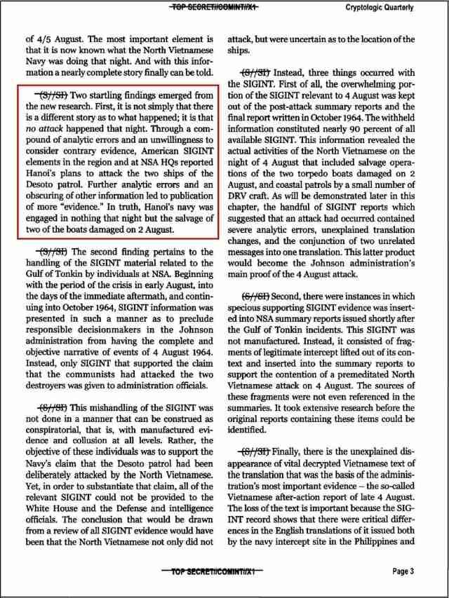010101 NSA Gulf of Tonkin Paper Page 3