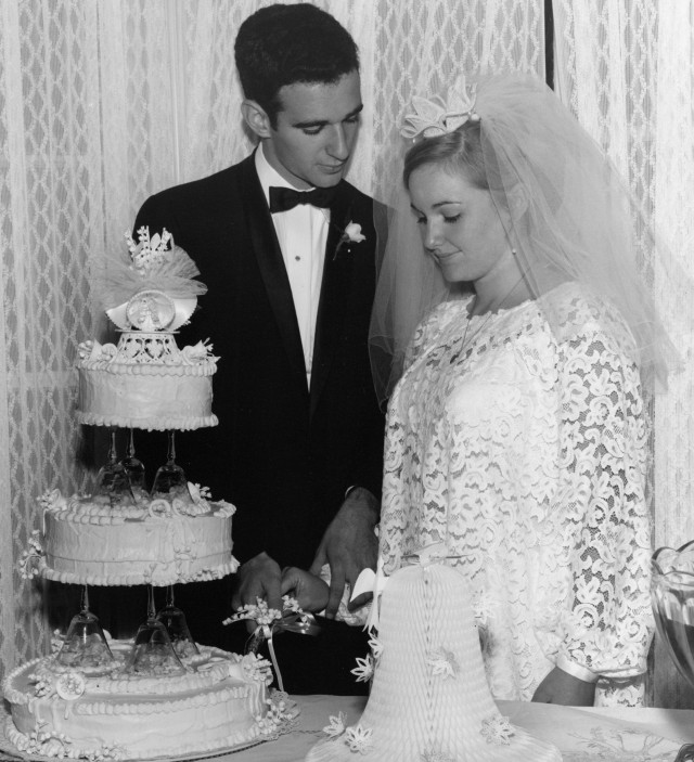 Our wedding, March 24, 1967. (Yes, yesterday was our 49th anniversary.)